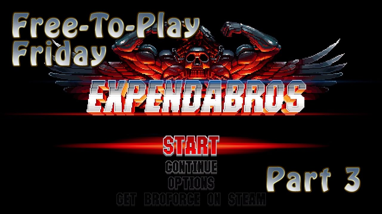 Embedded thumbnail for Free-To-Play Friday: Expendabros Part 3: Speedrunning With Terry Crews