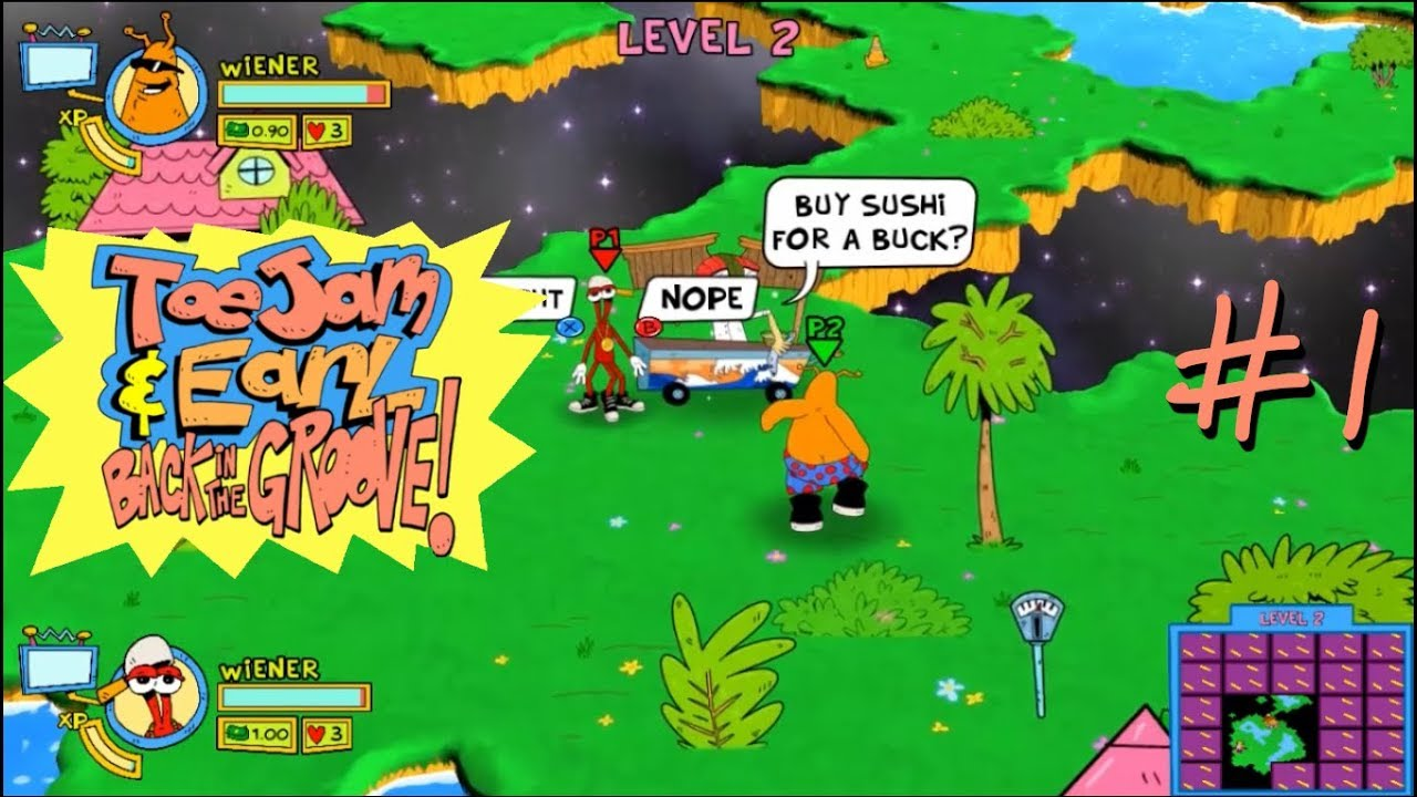 Embedded thumbnail for Let's Play ToeJam & Earl: Back in the Groove! - 1
