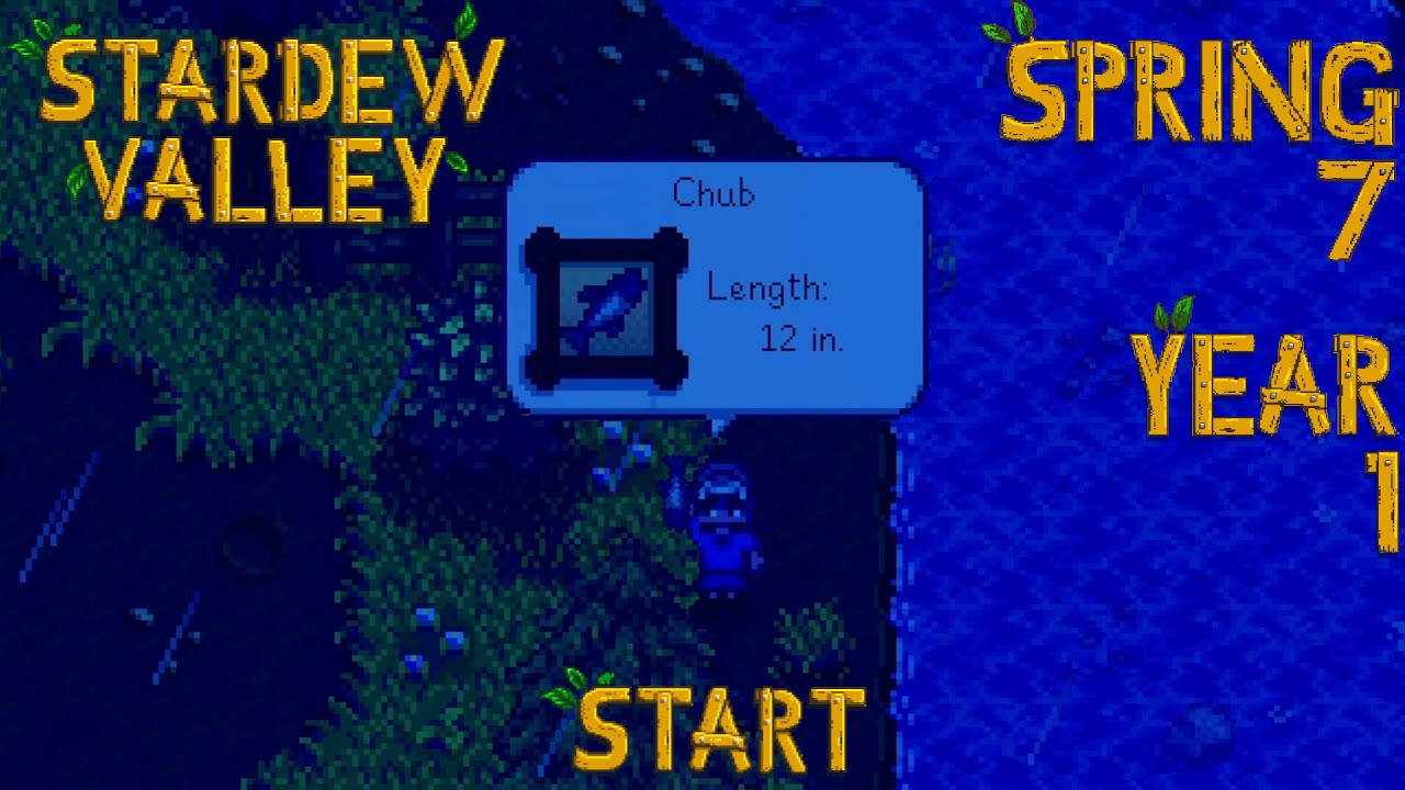 Embedded thumbnail for Fishing Expedition - Stardew Valley, Spring 7, Year 1, Start