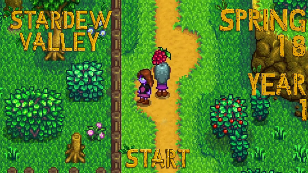 Embedded thumbnail for Lag Spikes - Stardew Valley, Spring 18, Year 1, Start